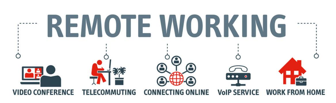 Remote working vector illustration concept