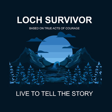 Lochness story Sole survivor Illustration good for shirt and fashion