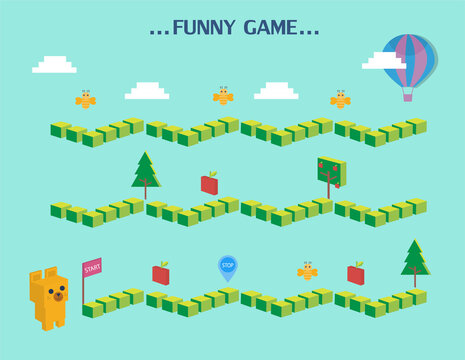 Funny frame,Board games, Vector illustrations