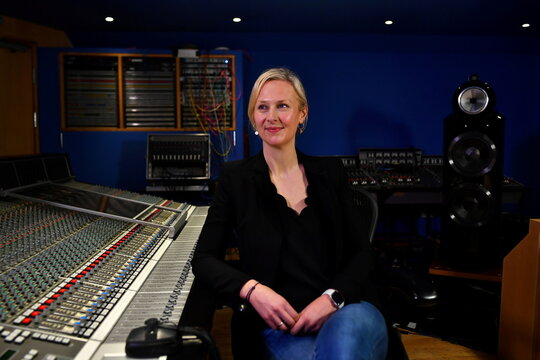 Abbey Road Studios Managing Director Isabel Garvey poses for a portrait in London