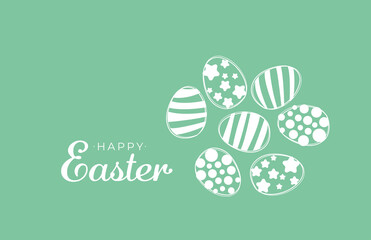 Obraz Color easter eggs wit happy easter text. Great for card banner package - fototapety do salonu