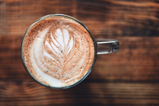 close up of a latte art