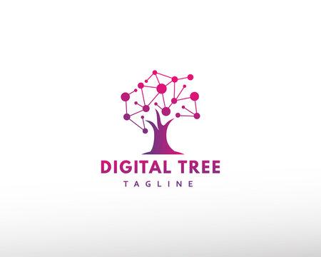 digital tree logo tech tree logo creative tree logo