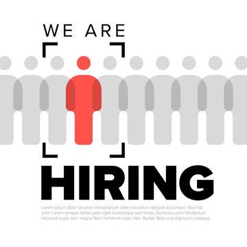 We are hiring minimalistic flyertemplate