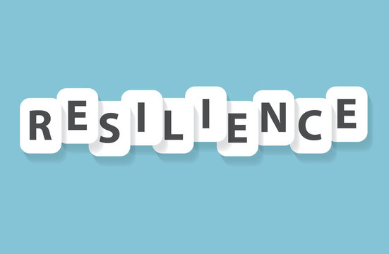resilience word concept- vector illustration