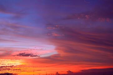 sunset from reunion island