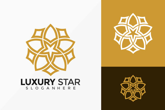 Luxury Royal Star Logo Vector Design. Abstract emblem, designs concept, logos, logotype element for template.