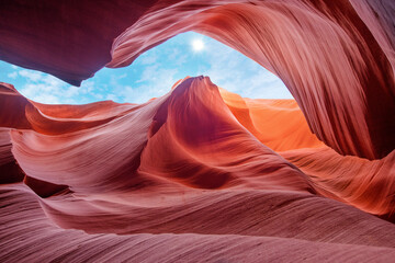 Antelope Canyon Arizona - Art and travel concept