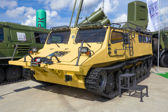 """MOSCOW REGION, RUSSIA - AUGUST 25, 2020: Newest Russian all-terrain vehicle """"5901"""""""