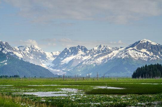 Alaska mountains near Placer River, Alaska