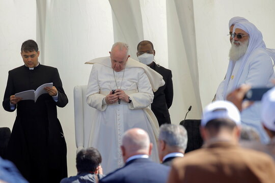 Pope Francis visits Ur during his historic tour in Iraq