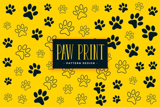 dog or cat paw prints pattern background