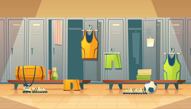 Vector locker, changing room for sports, gym