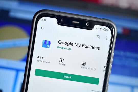 Google my Business application On Smartphone, Addresses registration app from google