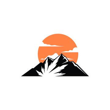 Mountain hemp modern logo design