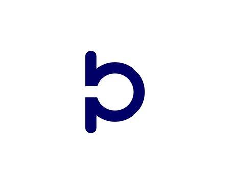 PB BP letter logo design vector template