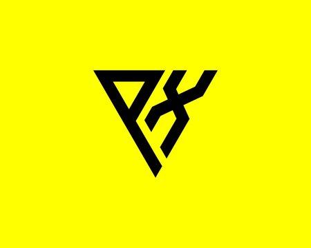 PX XP letter logo design vector template