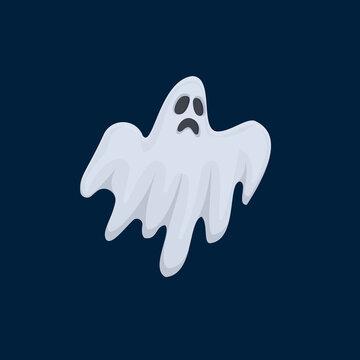 Ghost. Soul, cartoon character, vector illustration