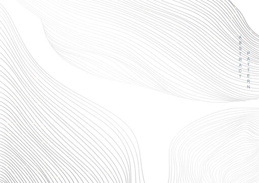 Abstract background with white and grey line pattern, vector. Natural art template. Banner design and wallpaper in vintage style.