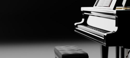 Fototapeta Classic grand piano keyboard obraz