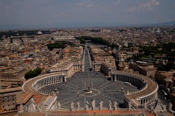 Watykan Rzym latem