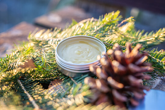 home made organic natural spruce pine tree resin  oitnment salve cream