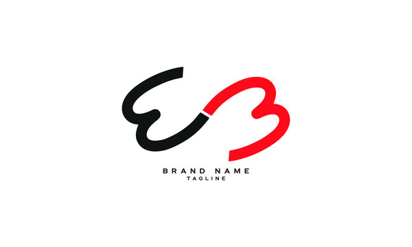 WB, E3, WW, Abstract initial monogram letter alphabet logo design