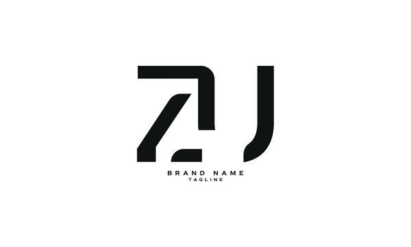 ZU, UZ, Abstract initial monogram letter alphabet logo design