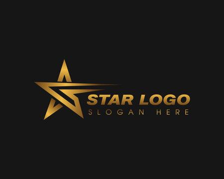 gold star logo creative star logo star logo creative line star logo