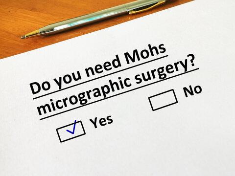 Questionnaire about dermatology