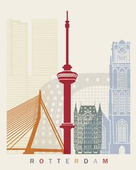 Rotterdam skyline poster