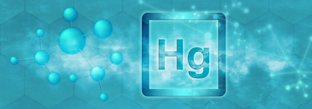 Hg symbol. Mercury chemical element