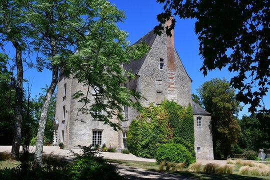 Sache; France - july 11 2020 : the castle