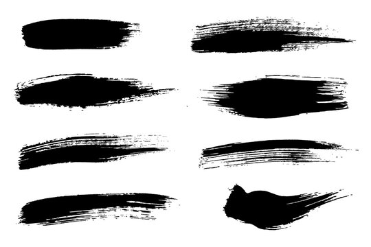 Rough black paint brushes for painting