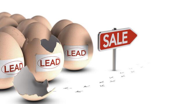 Lead nurturing. Marketing concept.