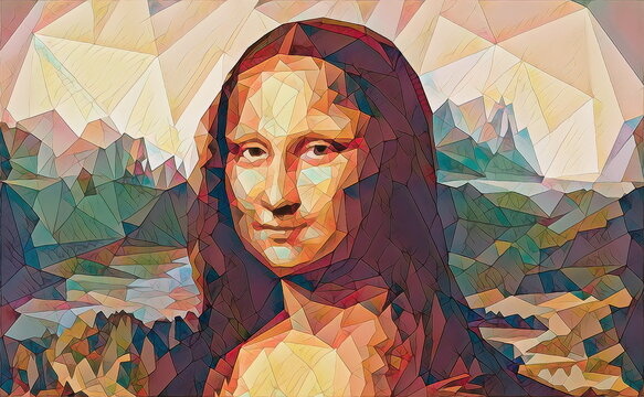 My painting reproduction of Mona Lisa by Leonardo da Vinci.