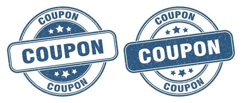 coupon stamp. coupon label. round grunge sign