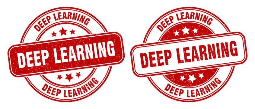 deep learning stamp. deep learning label. round grunge sign