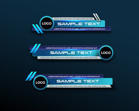 abstract modern geometric lower third banner template design. TV News Bars. broadcasting live streaming. interface template. Vector Illustration.