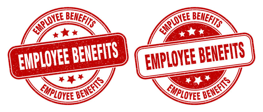 employee benefits stamp. employee benefits label. round grunge sign