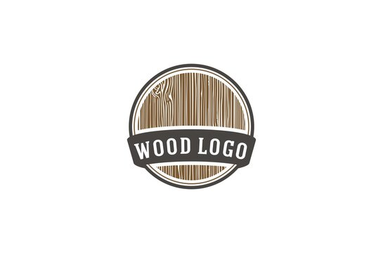 a wood logo that matches a company processing wood with the addition of a wood grain illustration