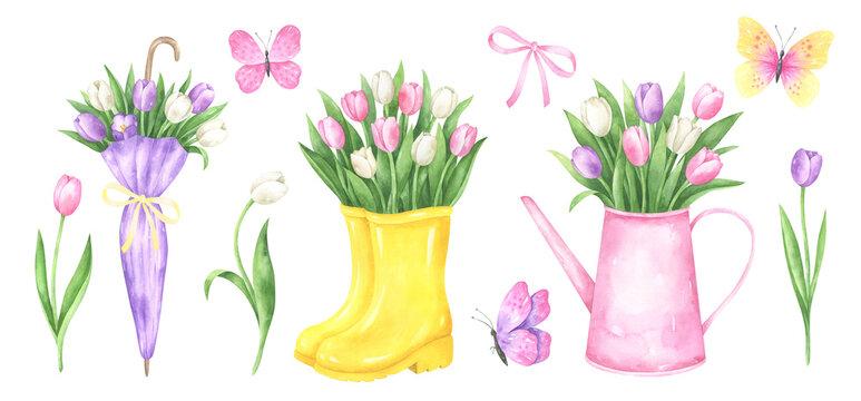 Spring Elements Watercolor Set