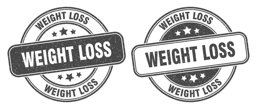 weight loss stamp. weight loss label. round grunge sign