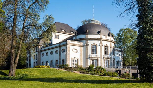 Theater in the park in rococo style in the spa park of Bad Oeynhausen. Weser Hills, East Westphalia, North Rhine-Westphalia, Germany, Europe