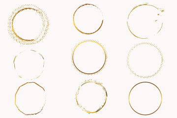 Fototapeta Abstract vector golden shapes sparkles