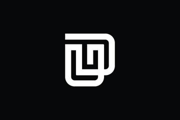 Obraz DU logo letter design on luxury background. UD logo monogram initials letter concept. DU icon logo design. UD elegant and Professional letter icon design on black background. D U UD DU - fototapety do salonu