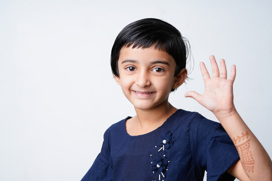 Cute Indian girl child showing expression