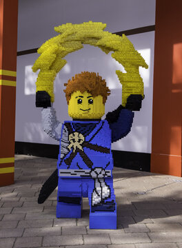 WINDSOR, UNITED KINGDOM - Apr 06, 2018: A large Lego Ninjago figure