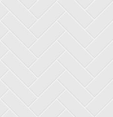Obraz White ceramic tile herringbone seamless pattern.  Parquet texture. - fototapety do salonu