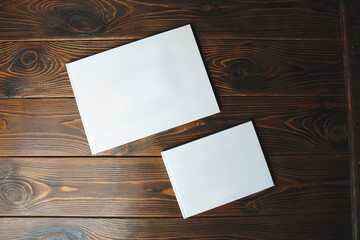 white photobooks of different size Wall mural